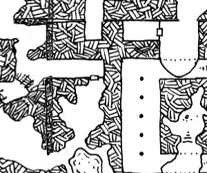 Cropped portion of a map from Dyson's Random Morph Map