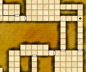 Cropped portion of a random dungeon map generated at the Gozzy's website.