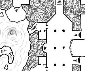 Cropped portion of a map from Risus Monkey's Random Dungeon