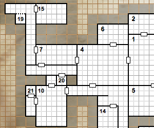 Cropped portion of a map from Wizards of the Coast's random dungeon generator.