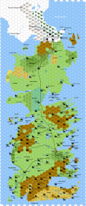 Westeros from the Song of Ice and Fire fantasy series.