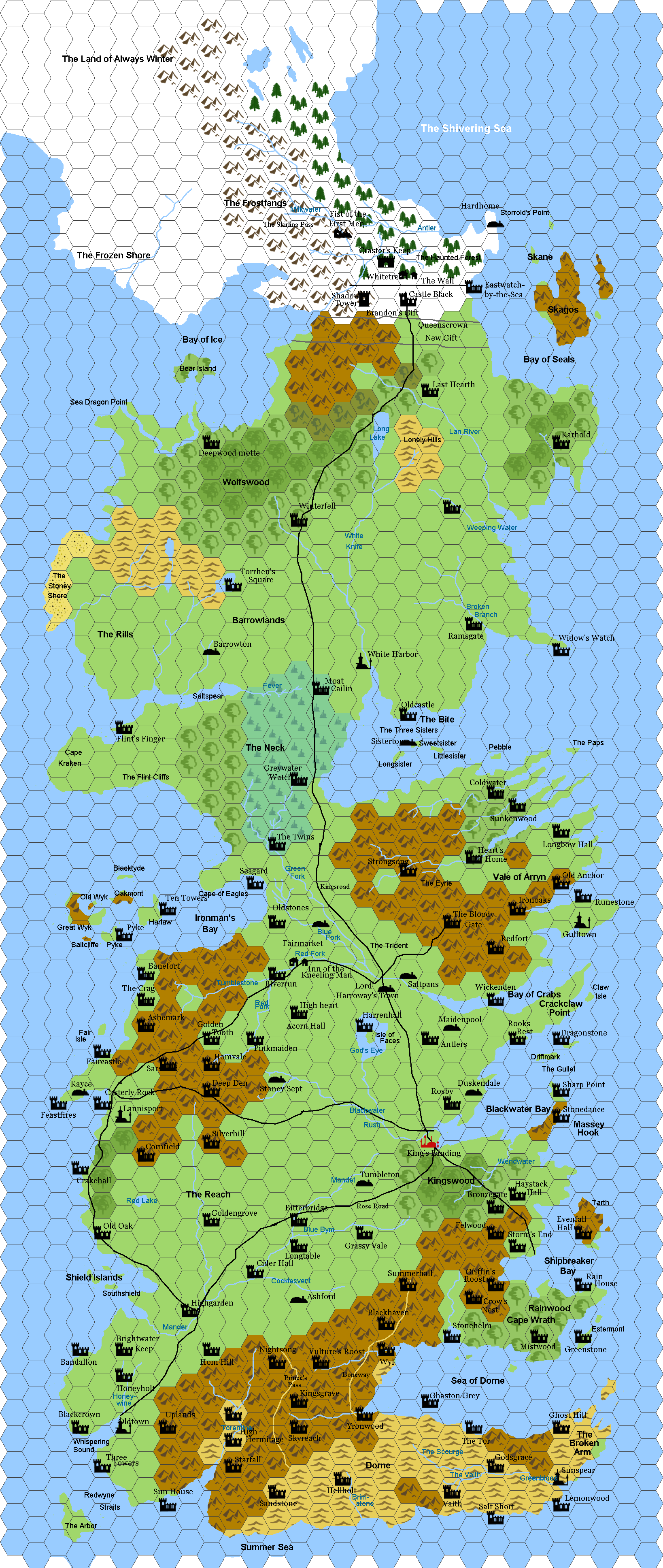 Map Westeros