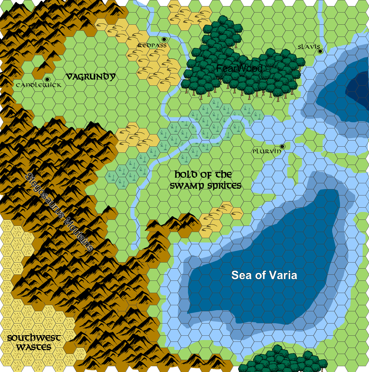 Making 1st Edition World of Greyhawk Style Maps in Hexographer Inkwell Ideas