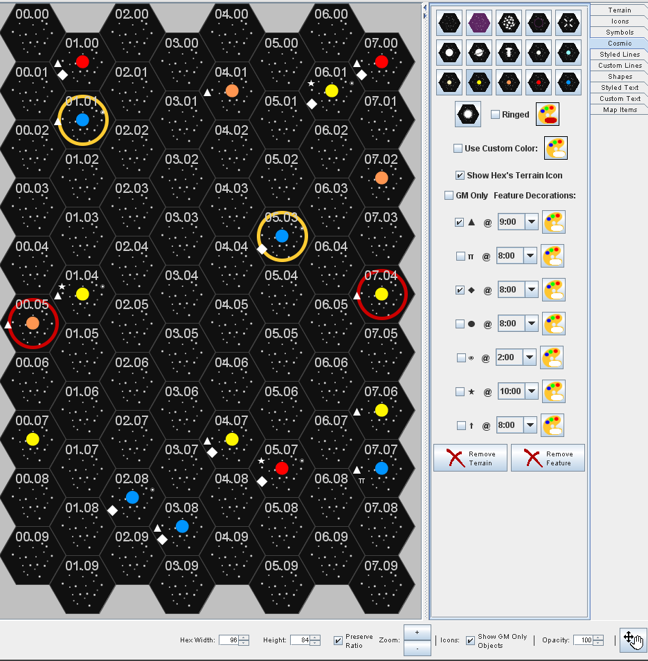 Creating Traveller Style SubSector Maps In Hexographer Inkwell Ideas - Star map generator