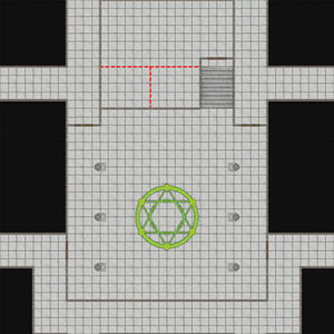 Scaled down version of a DungeonMorph Battlemat