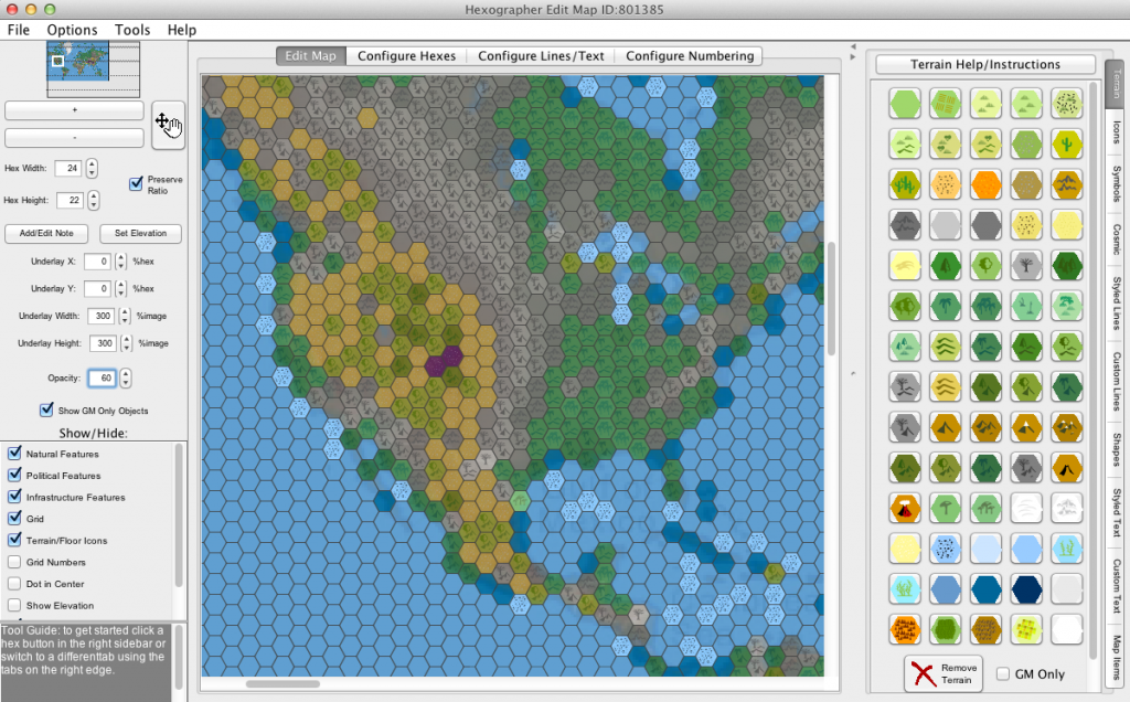 New hexographer feature convert map inkwell ideas screenshot 2 a first attempt of converting the underlay image sciox Gallery