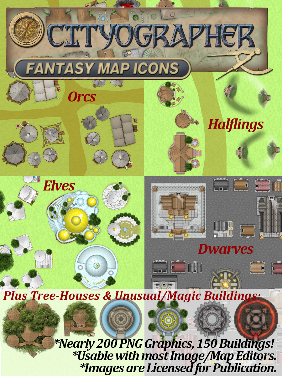 Cityographer Fantasy Buildings Graphics Icon Pack Released