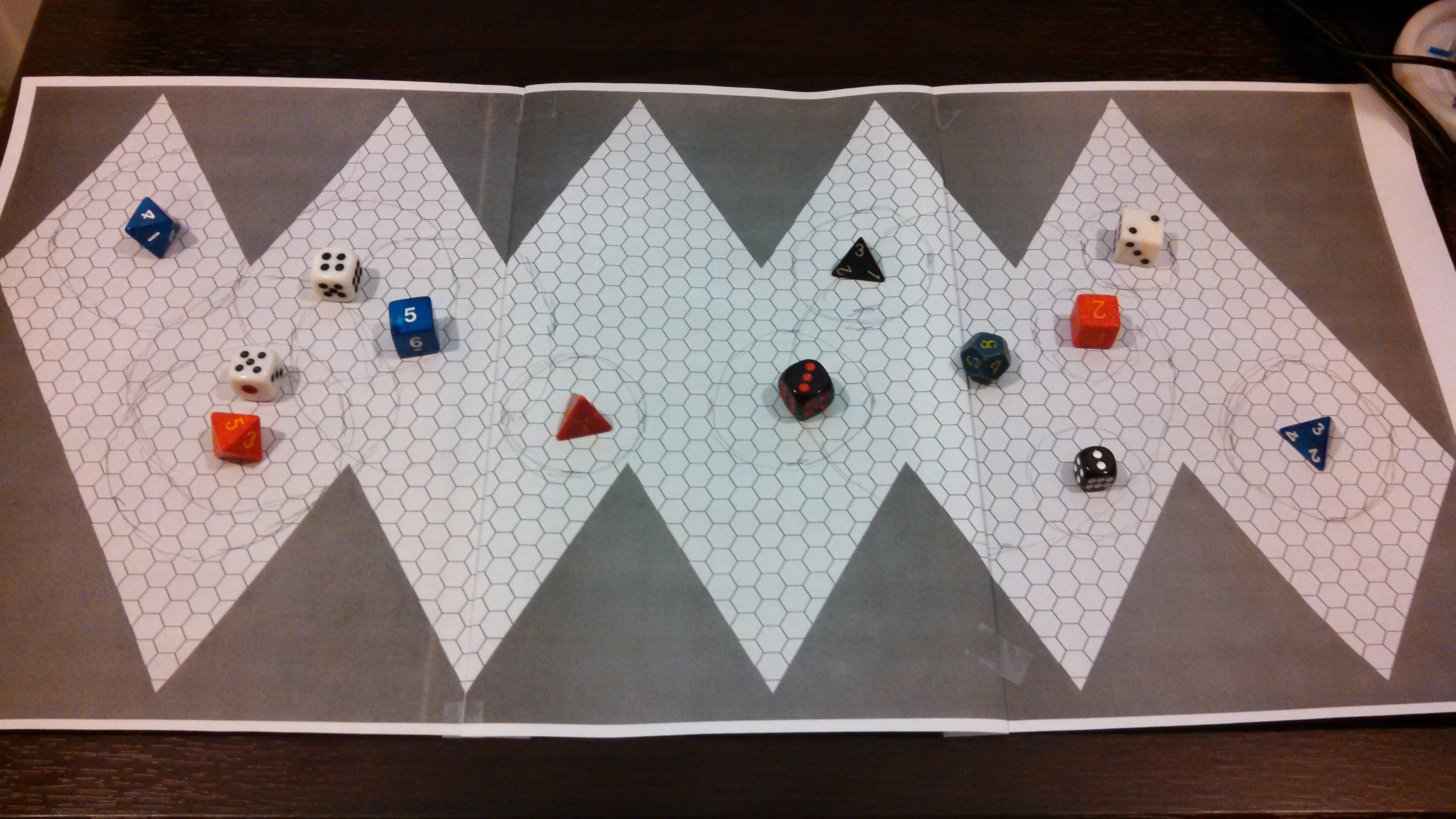 Make an icosahedral world dice drop map with hexographer inkwell dropping dice on the map and marking land areas click to enlarge sciox Gallery