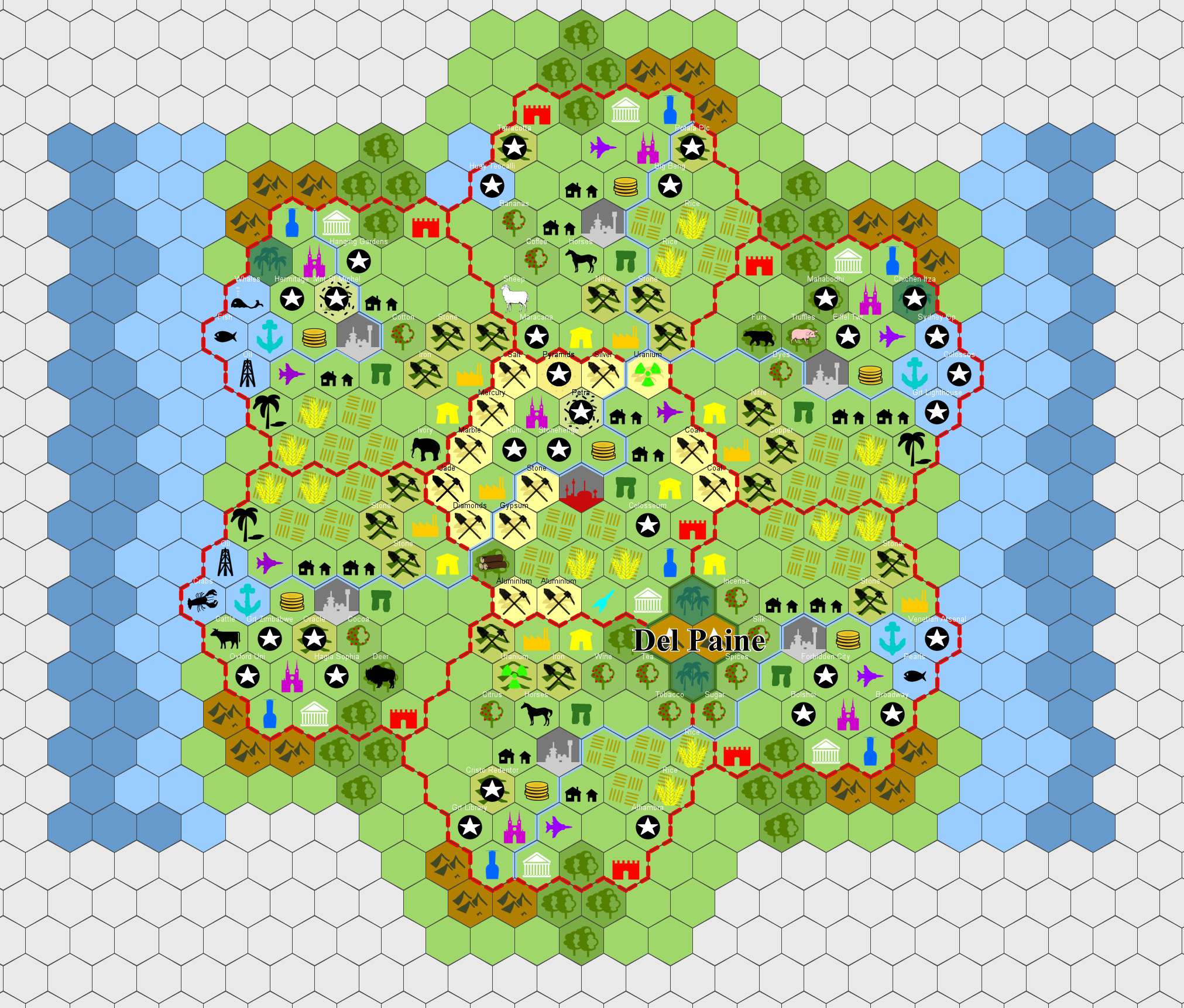 Using Hexographer For Civilization VI Planning Cool Map
