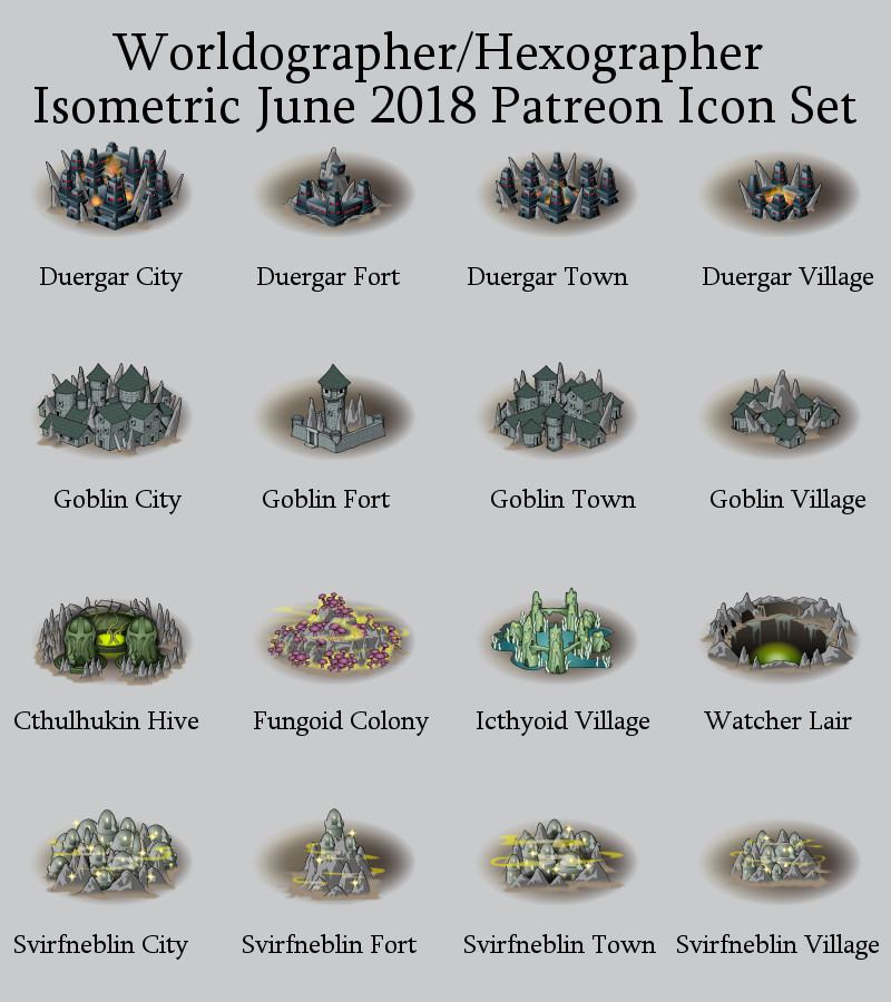 Isometric/World Underdark icons part 2