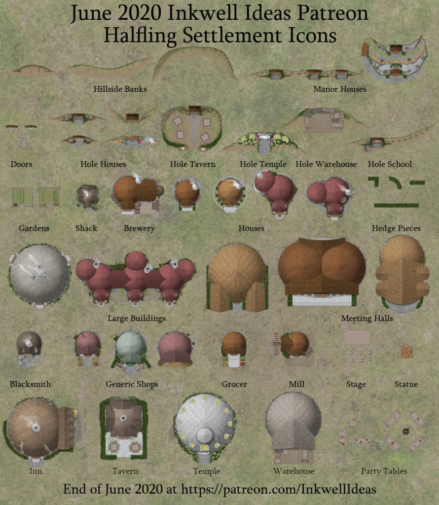 Halfling Settlement map icons