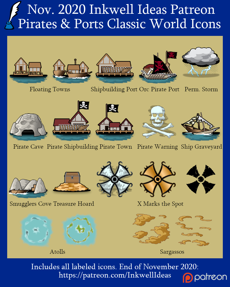 Pirates & Ports Classic World/Kingdom Icons